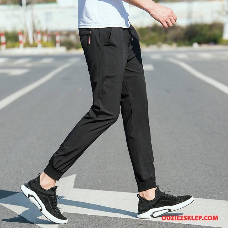 Męskie Casualowe Spodnie Męska Ołówkowe Spodnie 2018 Slim Fit Cienkie Tendencja Czarny Online