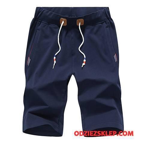 Męskie Casualowe Spodnie Młodzieżowa Męska Szorty Lato Spodnie Dresowe Popularny Ciemno Niebieski Sklep