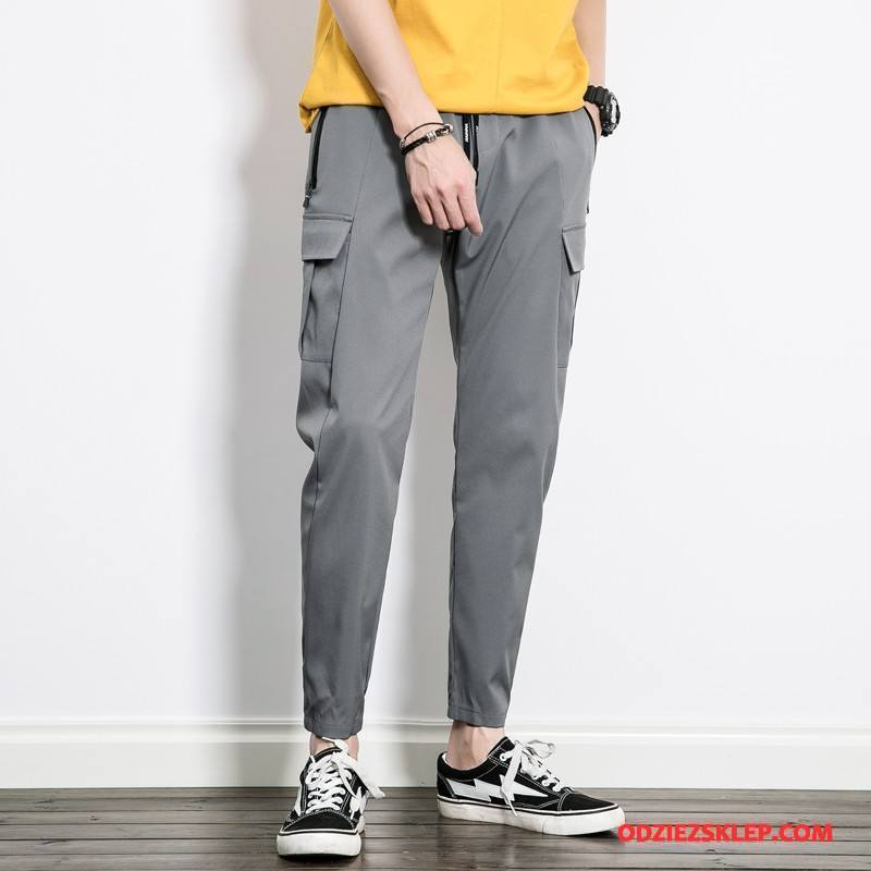 Męskie Casualowe Spodnie Moda 2018 Męska Gorąca Sprzedaż Szary Kup