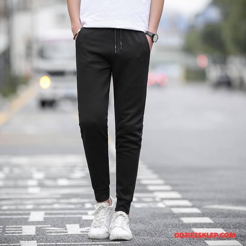Męskie Casualowe Spodnie Slim Fit Męska Ołówkowe Spodnie Szerokie Spodnie Dresowe Długie Czarny Sprzedam