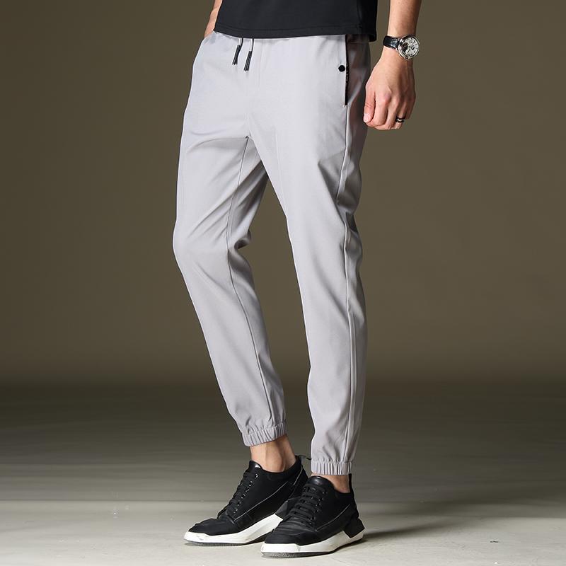 Męskie Casualowe Spodnie Szerokie Lato Spodnie Dresowe Slim Fit Mały Męska Khaki Online