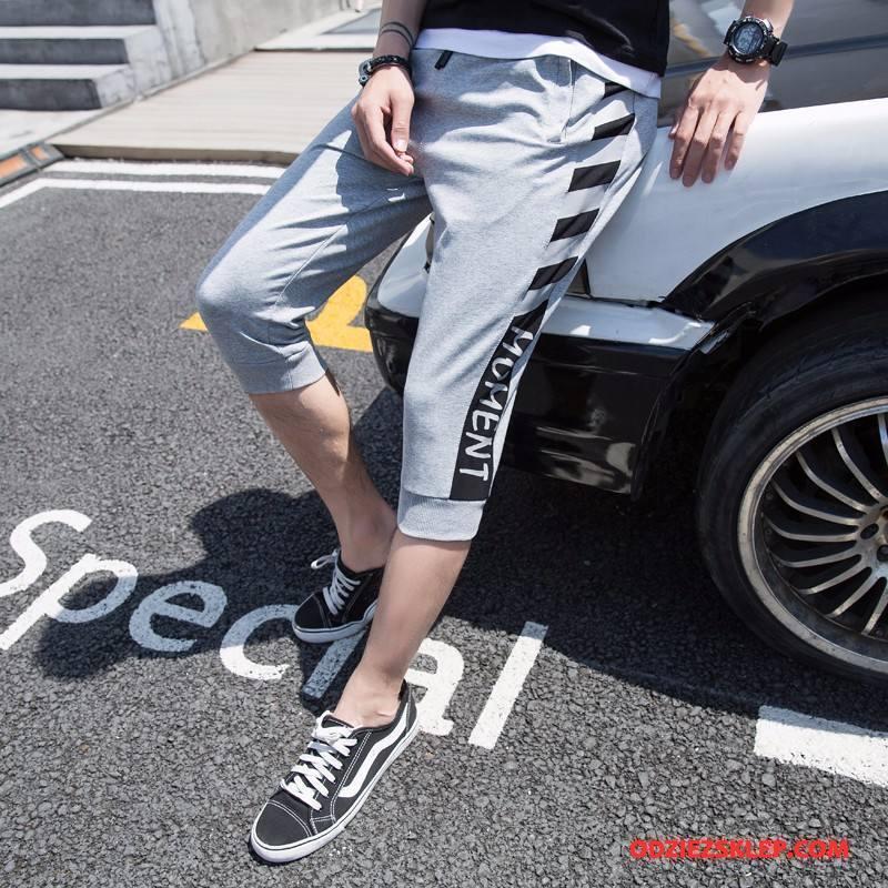 Męskie Casualowe Spodnie Szorty Spodnie Dresowe Męska Student Ołówkowe Spodnie Spodnie Capri Szary Kup
