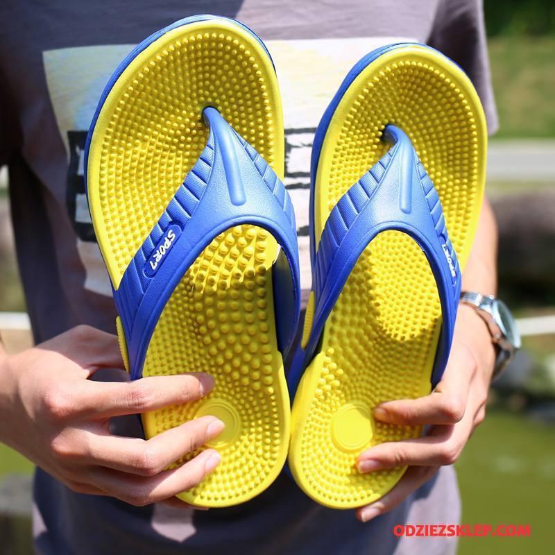 Męskie Japonki Buty Do Masażu Antypoślizgowe Casual Plażowe Lato Żółty Sklep