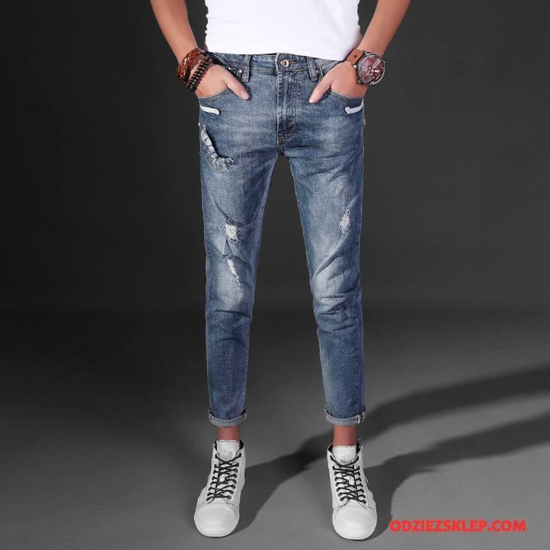 Męskie Jeansy Moda 2018 Nowy Dżinsy Niebieski Sprzedam