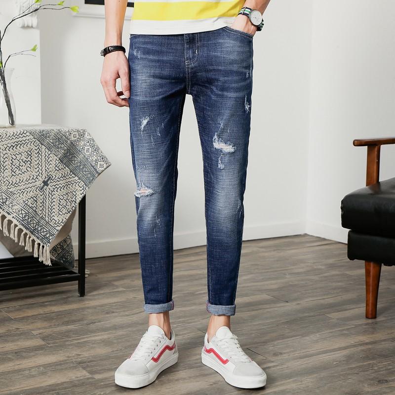 spodnie męskie jeans slim