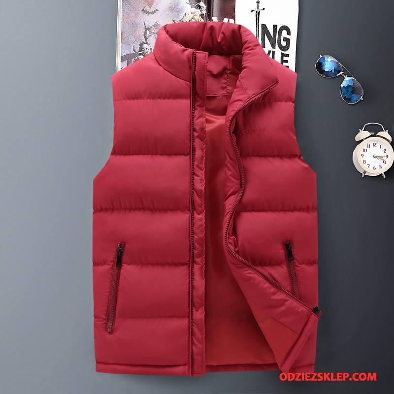 Męskie Kamizelka Moda Casual Czerwony Dyskont