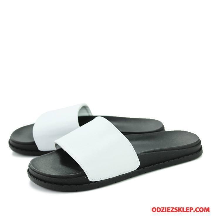 Męskie Kapcie Plażowe Buty Lato Sandały Męska Trendy Biały Oferta