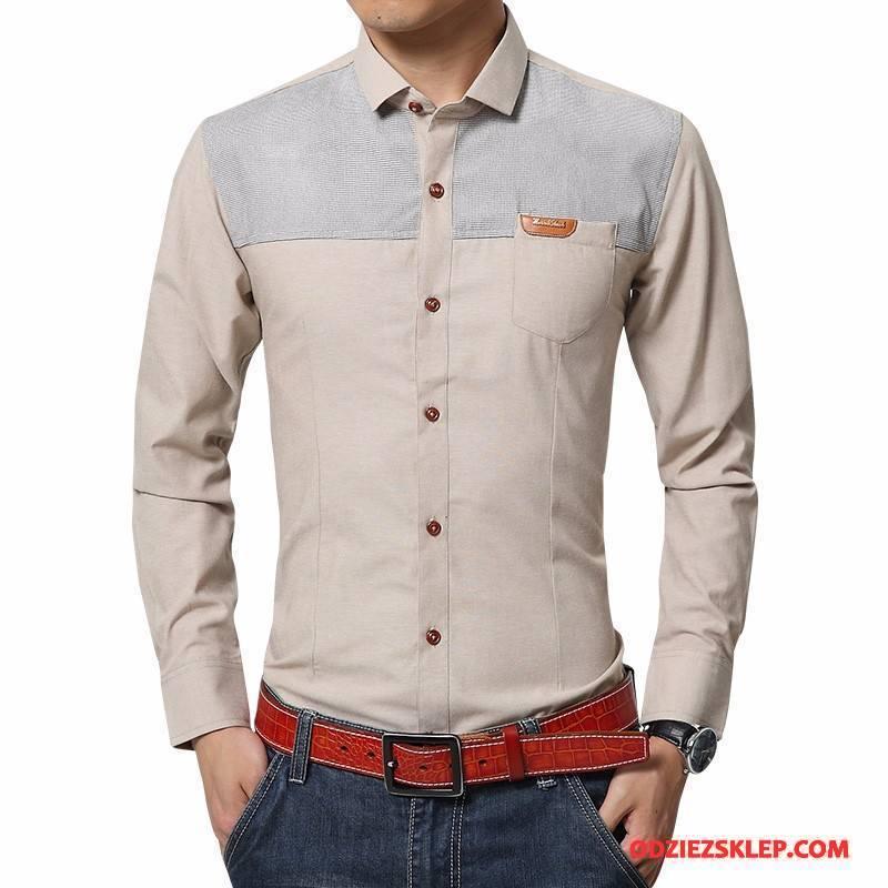 Męskie Koszula Męska Biznes Nowy Wygodne Jesień Oddychające Khaki Kupię