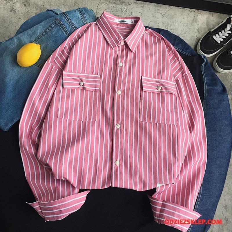 Męskie Koszula Moda Tendencja Nowy Casual Wygodne Długi Rękaw Czerwony Tanie