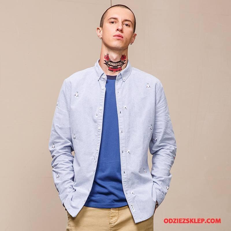 Męskie Koszula Niebieski Na Sprzedaż