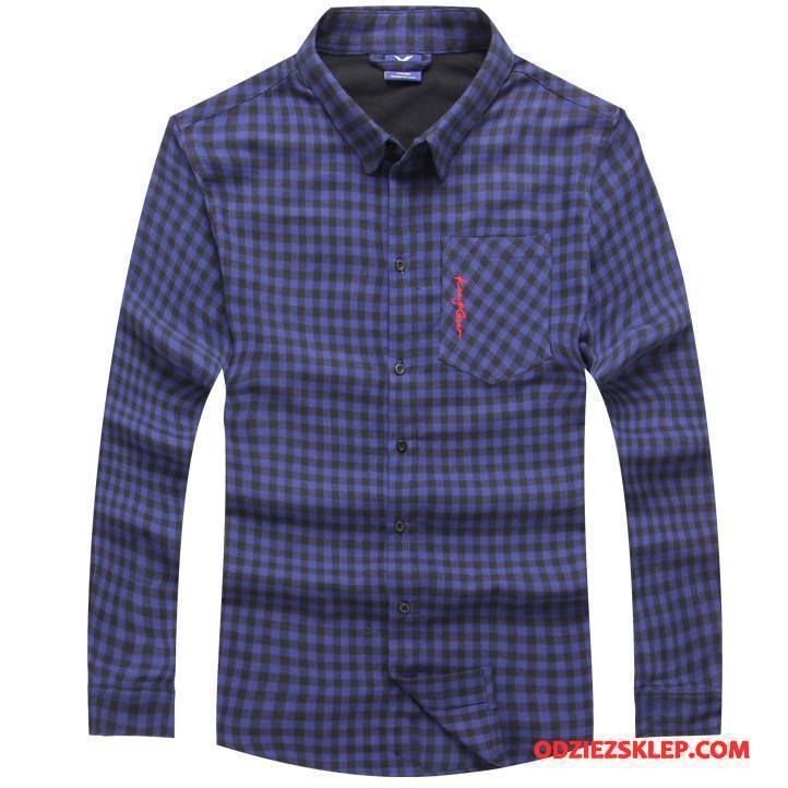 Męskie Koszula Nowy 2018 Ciemno Niebieski Kup