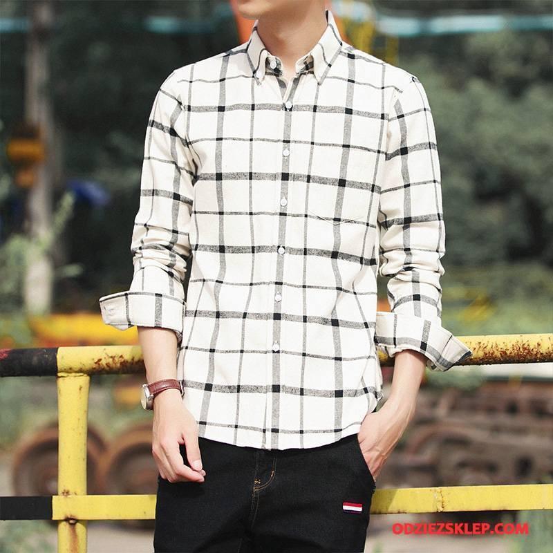 Męskie Koszula Nowy Jesień Długi Rękaw 2018 Biały Na Sprzedaż