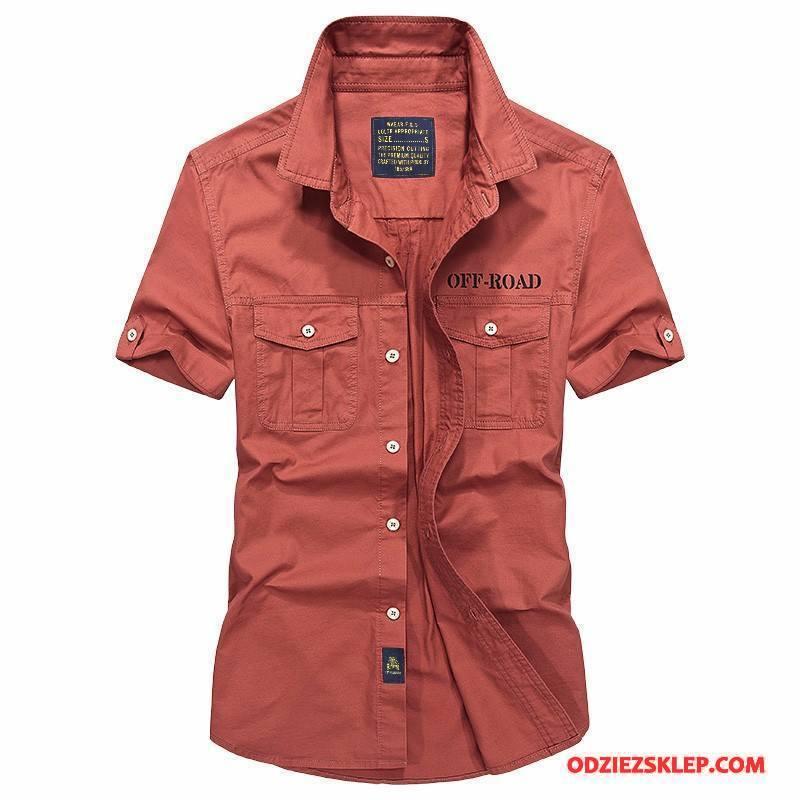 Męskie Koszula Nowy Koszula Z Krótkim Rękawem 2018 Czerwony Kup