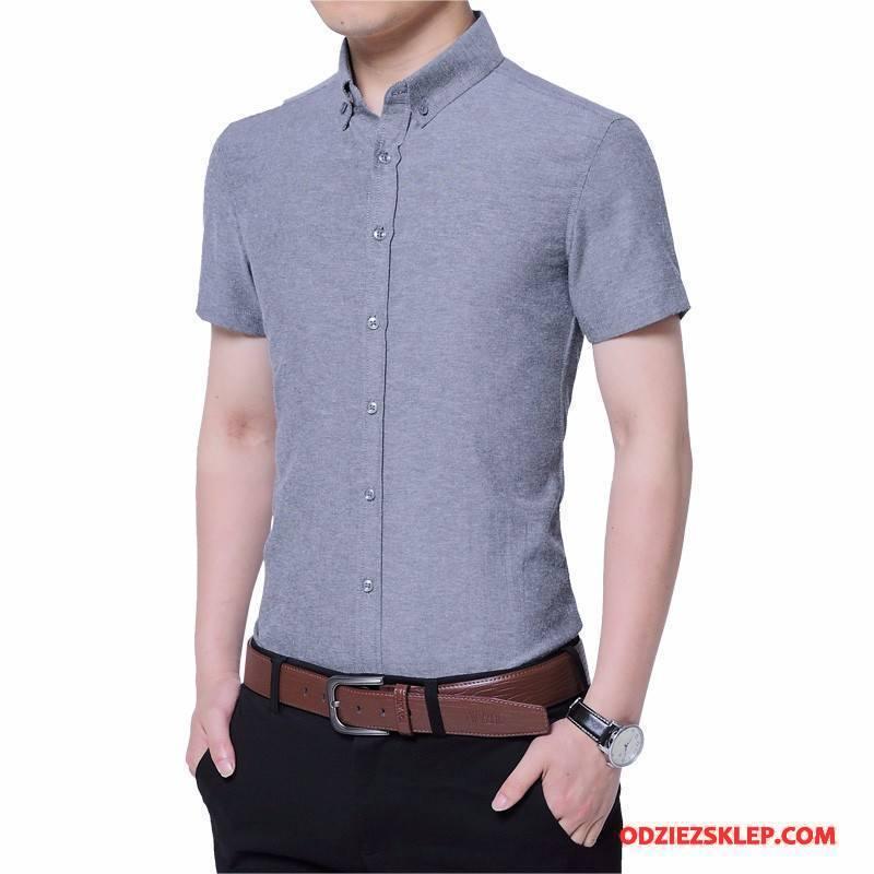 Męskie Koszula Tendencja Slim Fit Krowa Koszula Z Krótkim  9y8N3