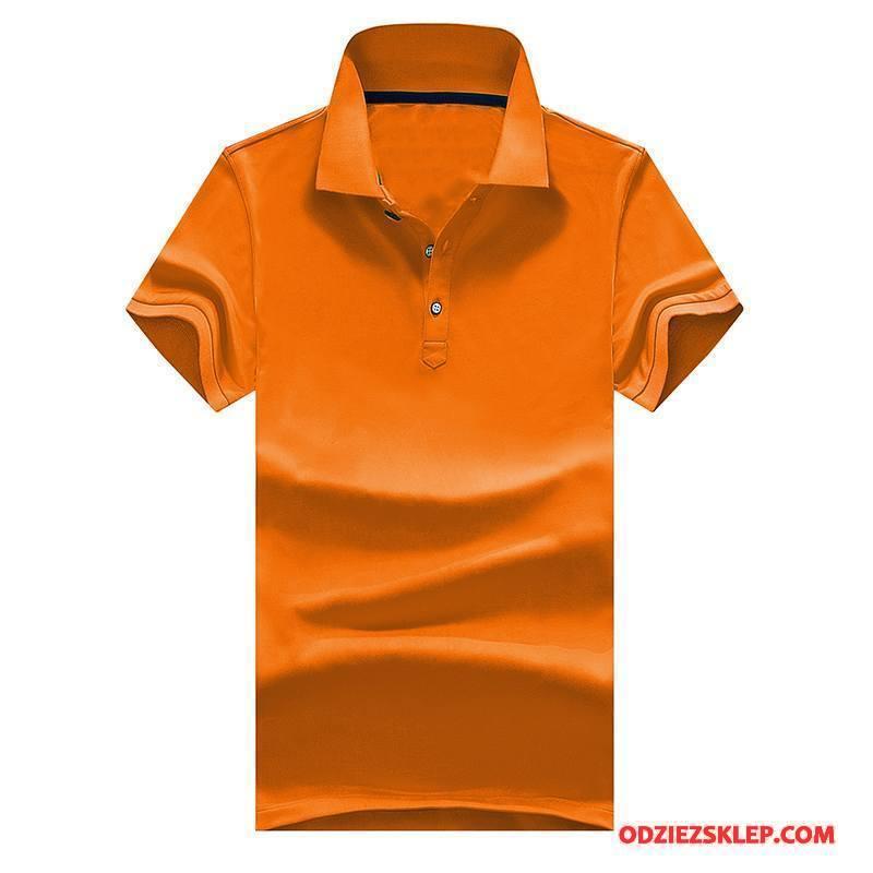 Męskie Koszulka Polo Nowy Lato Klapa Moda Biznes Kombinezony Robocze Oranż Czerwony Sprzedam