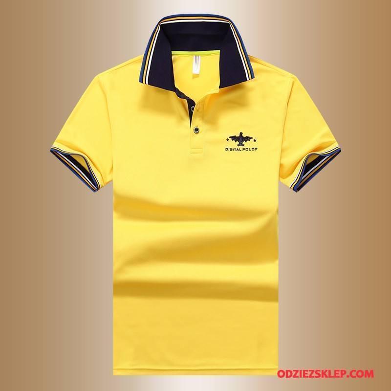 Męskie Koszulka Polo Nowy T-shirt 2018 Młodzież Piękny Lato Żółty Sprzedam
