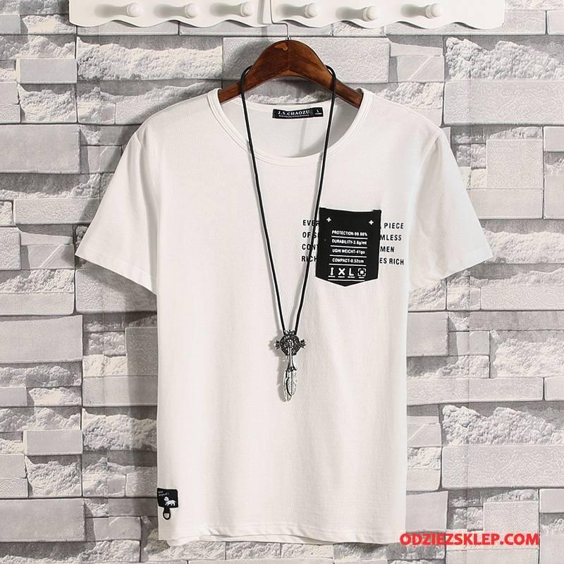 Męskie Koszulki 2018 Męska Tendencja Cienka Lato Biały Kupię