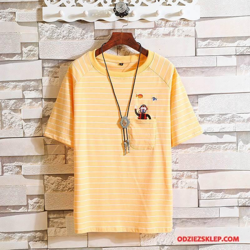 Męskie Koszulki Sweter Nowy Męska Bawełniane Żółty Sprzedam