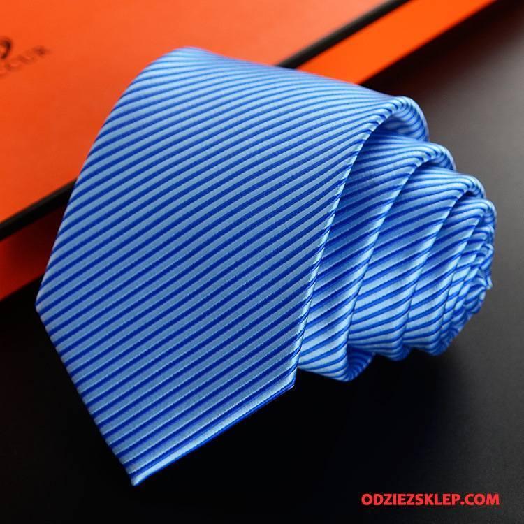 Męskie Krawat Jedwab Nowy Biznes Z Pracy Męska W Paski Niebieski Sklep