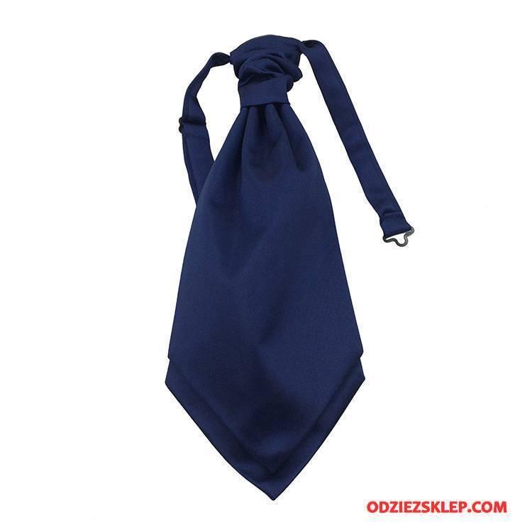 Męskie Krawat Koszula Męska Sukienka Kwiaty Ciemno Niebieski Czysta Online