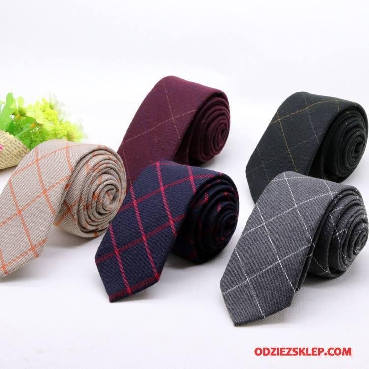 Męskie Krawat Krata Garnitury Wąskie Moda Casual Męska Czarny Tanie