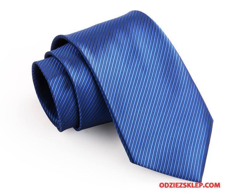 Męskie Krawat Męska Biznes Sukienka Ciemno Niebieski Niebieski Srebrny Tanie