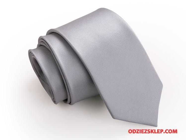 Męskie Krawat Mały Męska Wąskie 5 Cm Ślubna Casual Czysta Szary Na Sprzedaż