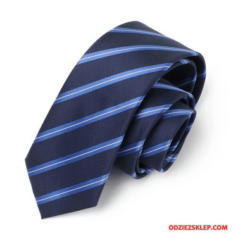 Męskie Krawat Student Biznes Dobrze W Paski Męska Wąskie Niebieski Czarny Tanie