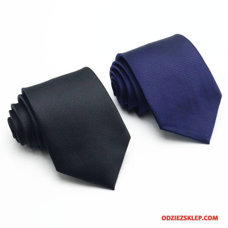 Męskie Krawat W Paski Młodzież Biznes Moda Sukienka Męska Granatowy Niebieski Czarny Sklep