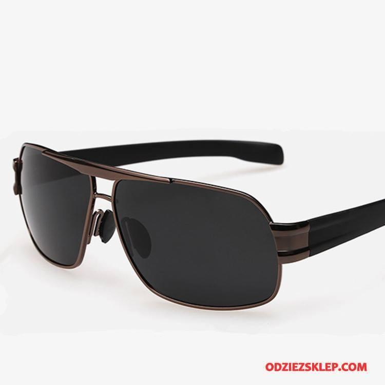 Męskie Okulary Przeciwsłoneczne Dla Kierowców Trendy Polaryzator Kwadratowy Męska Vintage Brązowy Sklep