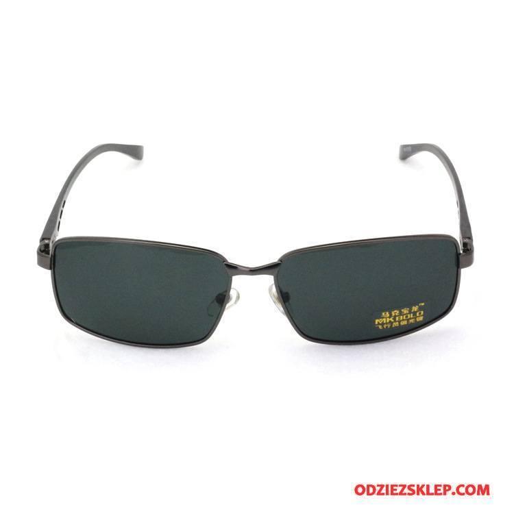 Męskie Okulary Przeciwsłoneczne Klasyczny Jazdy Aluminium Magnezu Męska Dla Kierowców Polaryzator Ciemnozielony Złoty Kup