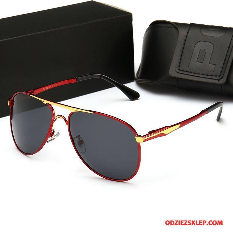 Męskie Okulary Przeciwsłoneczne Męska Bicolored Lato Gorący Eleganckie Polaryzator Czerwony Sprzedam