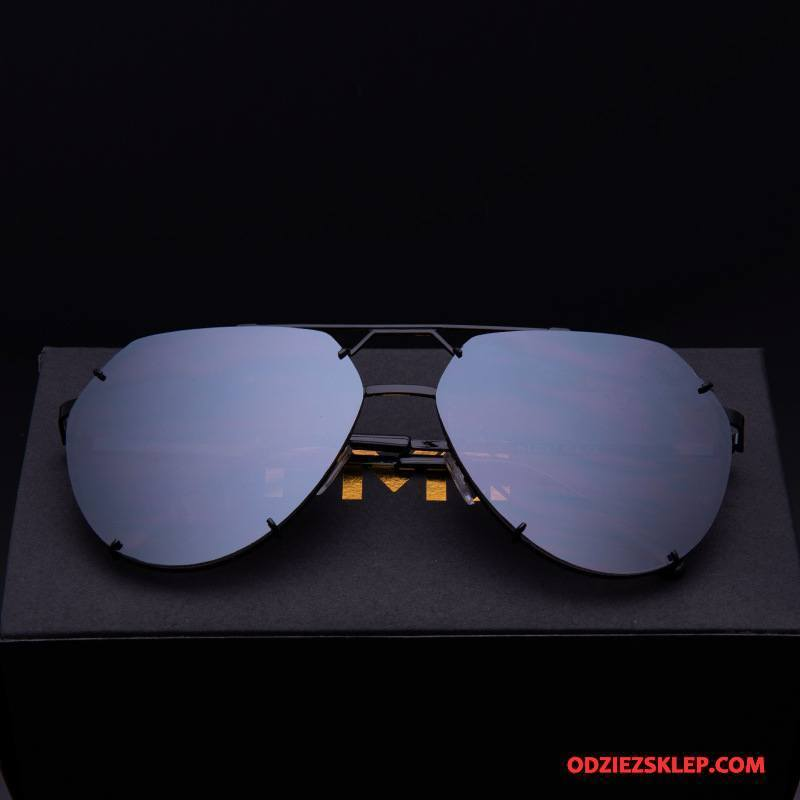 Męskie Okulary Przeciwsłoneczne Męska Dla Kierowców Nowy Damska Oryginalne Trendy Niebieski Fioletowy Tanie
