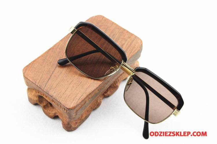 Męskie Okulary Przeciwsłoneczne Męska Kryształ Złoty Brązowy Jasny Kup