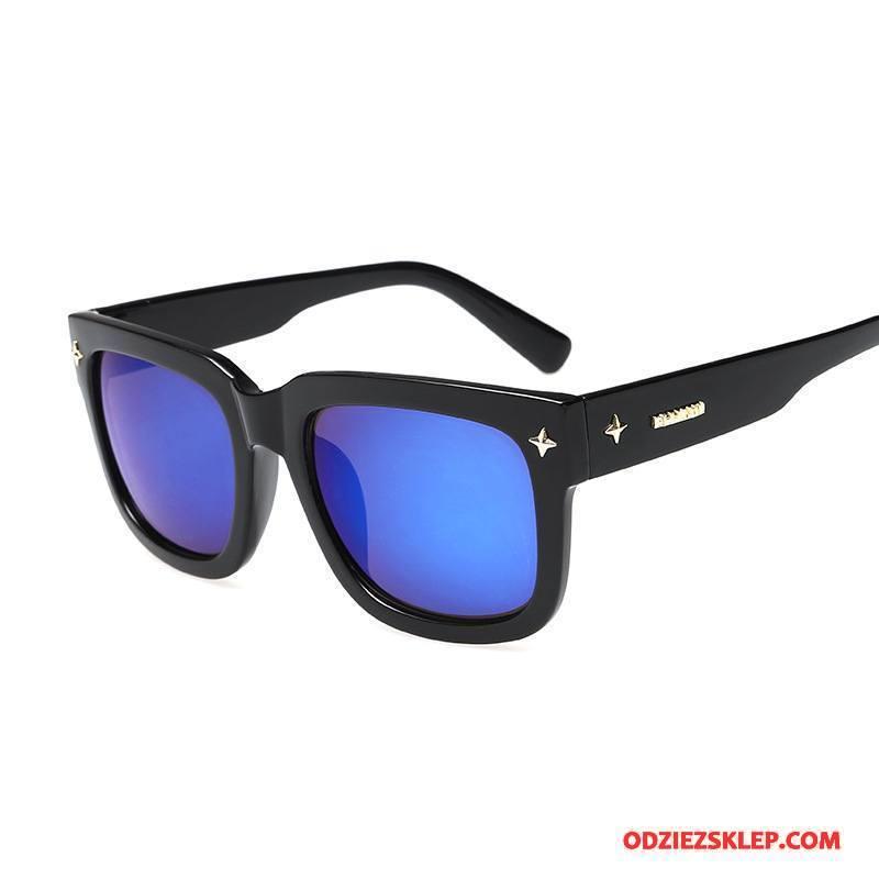 Męskie Okulary Przeciwsłoneczne Męska Wszystko Pasuje Trendy Niebieski Tanie