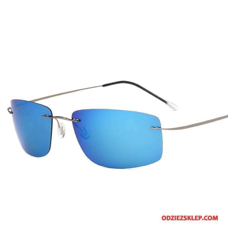 Męskie Okulary Przeciwsłoneczne Polaryzator Lekkie Kwadratowy Męska Słońce Pure Niebieski Sklep