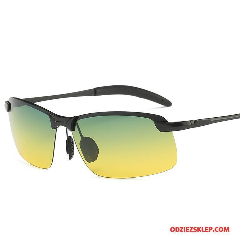 Męskie Okulary Przeciwsłoneczne Polaryzator Męska Wielofunkcyjne Nocna Wizja Moda Żółty Online
