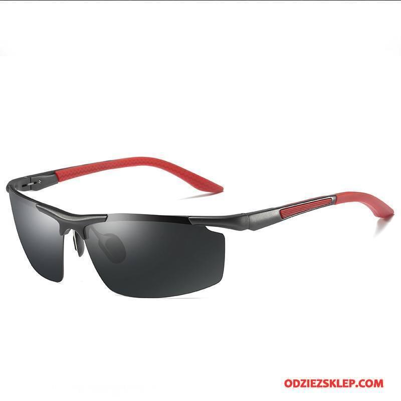 Męskie Okulary Przeciwsłoneczne Polaryzator Outdoor Jazdy Sportowe Męska Aluminium Magnezu Czerwony Na Sprzedaż