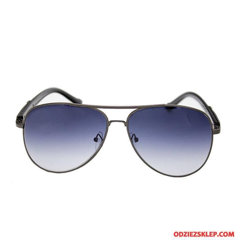 Męskie Okulary Przeciwsłoneczne Ropucha Dla Kierowców Nowy Kolorowe Trendy Męska Niebieski Sprzedam