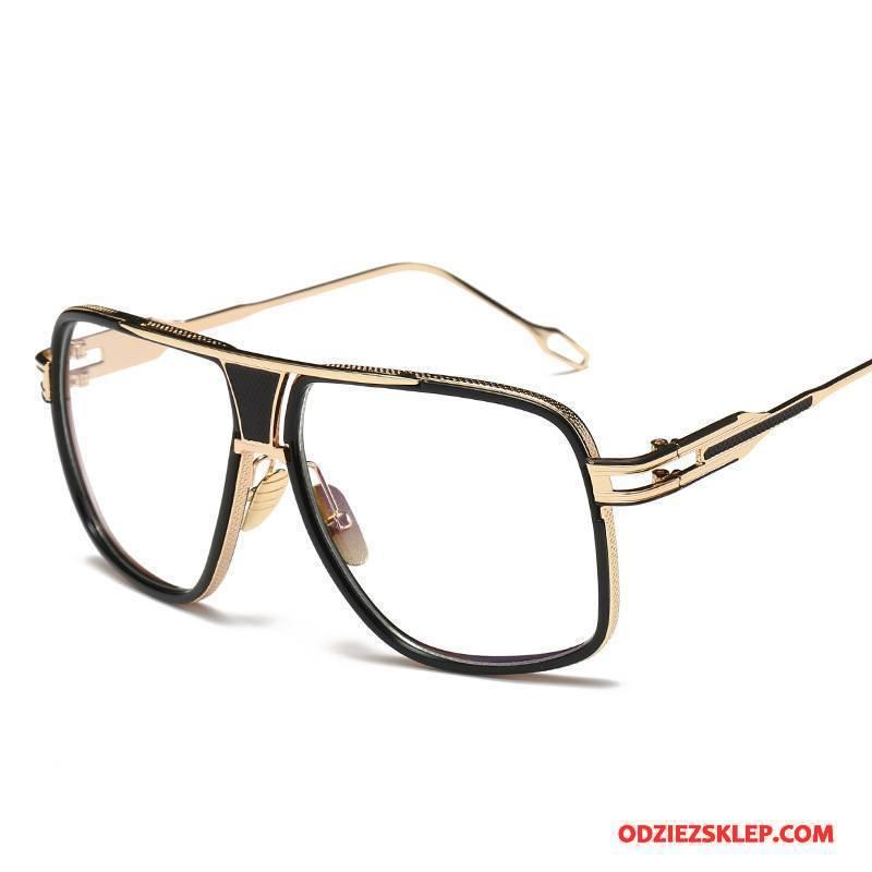 Męskie Okulary Przeciwsłoneczne Trendy Damska Moda Wielki Zakochani Okrągła Twarz Złoty Tanie