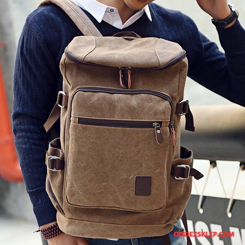 Męskie Plecak Męska Podróż Liceum Trendy Wielki Outdoor Khaki Dyskont
