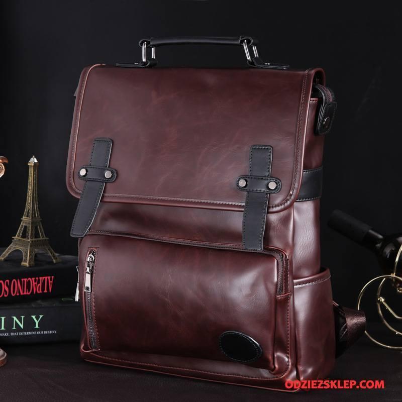 Męskie Plecak Podróż Casual Moda Duże Torby Oryginalny Vintage Kawowy Na Sprzedaż