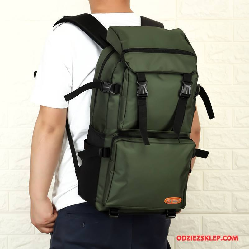 Męskie Plecak Podróżny 2018 Outdoor Torba Turystyczna Nowy Męska Duża Pojemność Zielony Na Sprzedaż