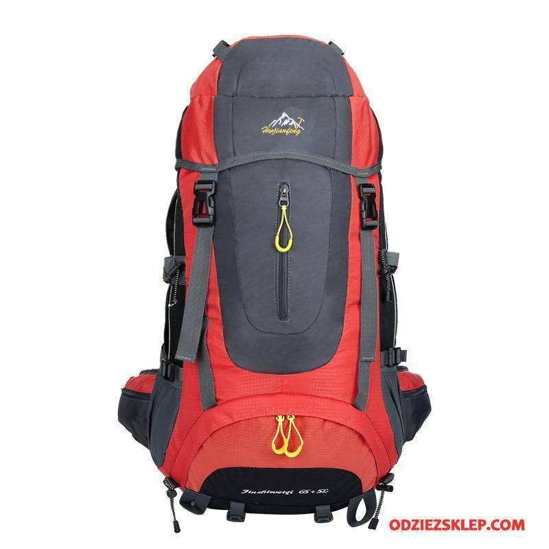 Męskie Plecak Podróżny Duża Pojemność Damska Wodoodporny Outdoor Casual Męska Czerwony Na Sprzedaż