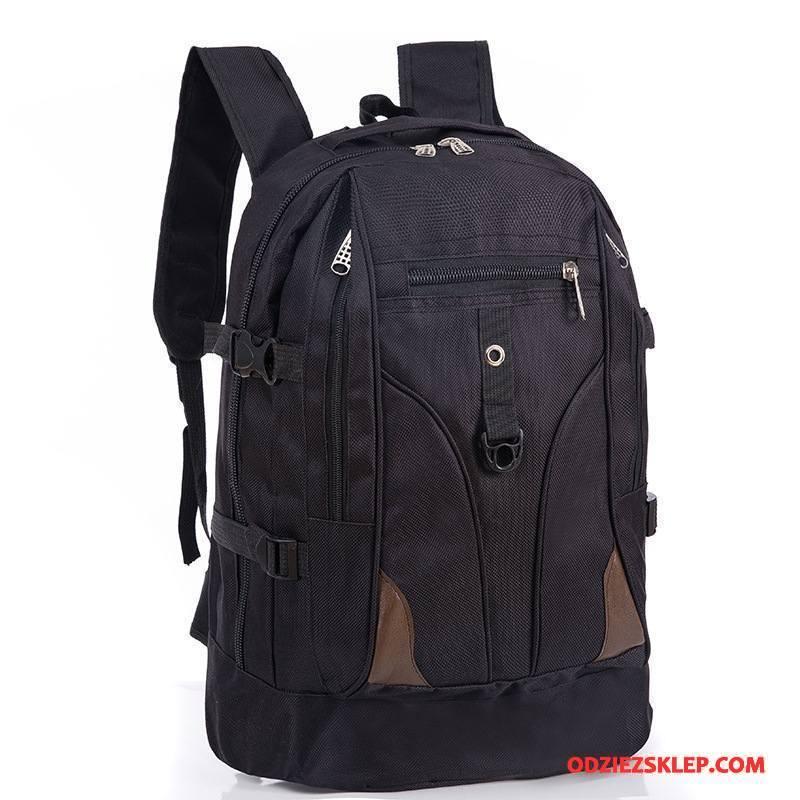 Męskie Plecak Podróżny Duża Pojemność Outdoor Tornister Szkolny Casual Sportowe Płótno Czarny Online