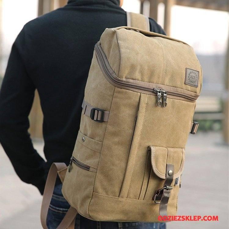 Męskie Plecak Podróżny Męska Trendy Moda Nowy Outdoor Casual Khaki Kup