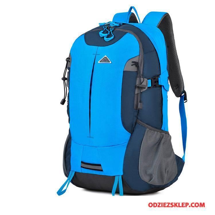 Męskie Plecak Podróżny Outdoor Torba Turystyczna Trekkingowa Damska Sportowe Do Chodzenia Niebieski Tanie