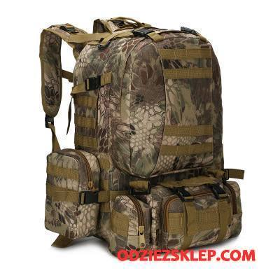 Męskie Plecak Podróżny Płótno Do Chodzenia Outdoor Taktyka Trekkingowa Męska Kamuflaż Zielony Kup