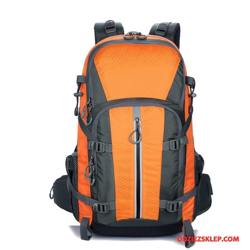 Męskie Plecak Podróżny Torba Turystyczna Outdoor Męska Duża Pojemność Oranż Kup