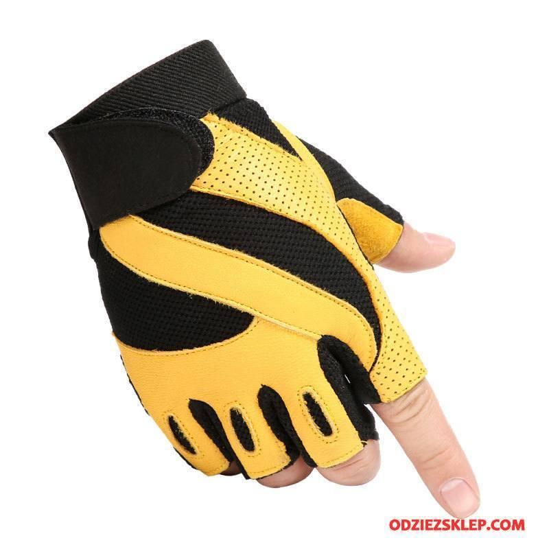 Męskie Rękawiczki Dla Kierowców Training Męska Antypoślizgowe Outdoor Pół Palca Żółty Sklep